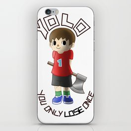 You only lose once iPhone Skin