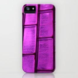 Pink Purple Glass Blocks iPhone Case