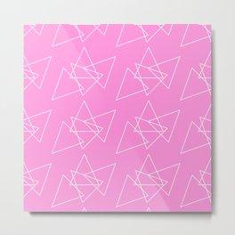 Hot Pink Mess Metal Print