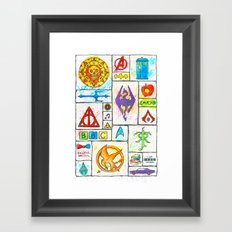 Fandoms Framed Art Print