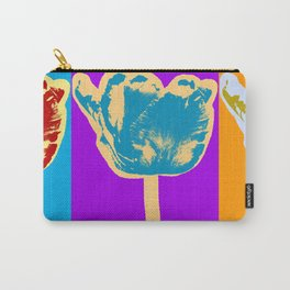 Poster with flower picture in pop art style Carry-All Pouch