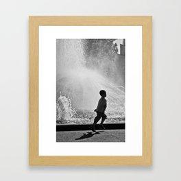 Spring in his step. (Melbourne, 2011) Framed Art Print