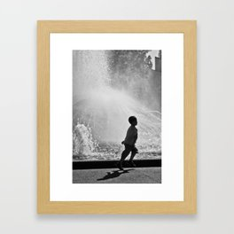 Spring in his step. (Melbourne, 2011) Framed Art Print