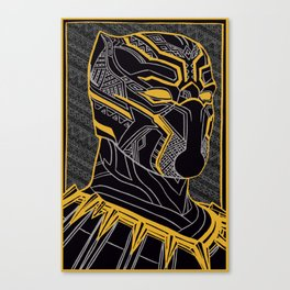 The King Of Wakanda - Panther Pattern Canvas Print