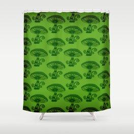 """""""Mushrooms in the Garden"""" Wonderland Style Design by Dark Decors Shower Curtain"""
