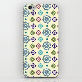 Retro Whimsical Floral Pattern iPhone Skin