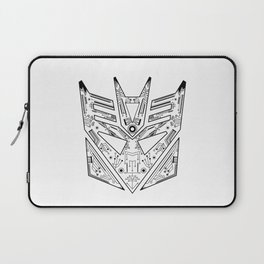 Decepticon Tech Black and White Laptop Sleeve