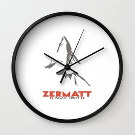 Zermatt, Valais, Switzerland Wall Clock
