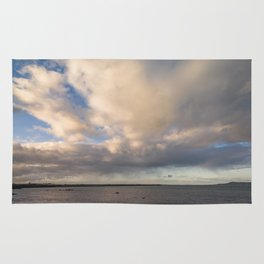 Irish clouds landscape Rug