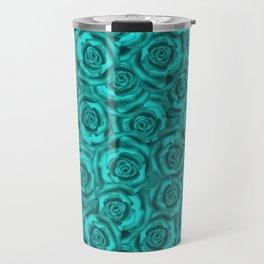 Bright turquoise roses Travel Mug