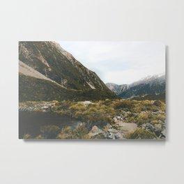 Hooker Valley Metal Print
