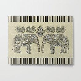 Elephant Muladhara Metal Print