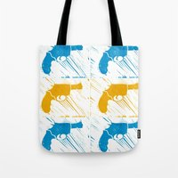 guns Tote Bags featuring Guns by Chloe Bromfield