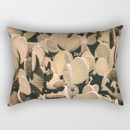 Cactus Maximalism // Vintage Bohemian Desert Photography Home Decor Summer Vibes Rectangular Pillow