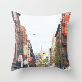 Mulberry Street Little Italy Throw Pillow