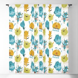 Cute Monsters patterns Blackout Curtain