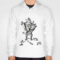 robot Hoodies featuring Robot by Le_Auris