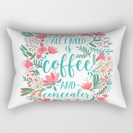 Coffee & Concealer – Juicy Palette Rectangular Pillow