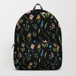 Dark Vintage Botanical Backpack