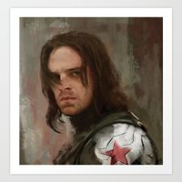 the winter soldier Art Prints featuring WS 1 by Wisesnail