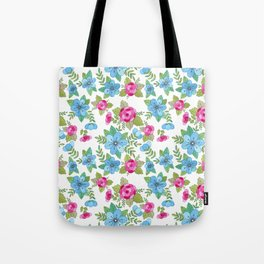 Blue Lilly Watercolor Tote Bag