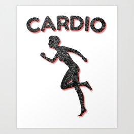 Cardio Running Female Art Print