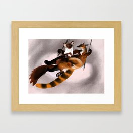 Love galidia and the swing Framed Art Print