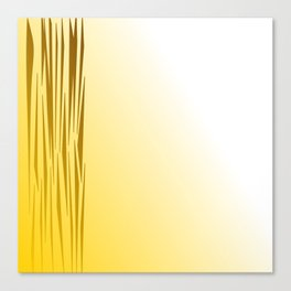 Wild lines on gold. Tiger lines Canvas Print