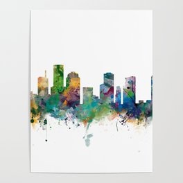 Houston Skyline Poster