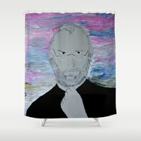 steve jobs Shower Curtains featuring Steve Jobs by Felix Zekveld