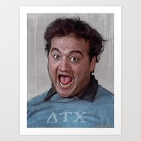 snl Art Prints featuring Animal House (Food Fight) by lensebender