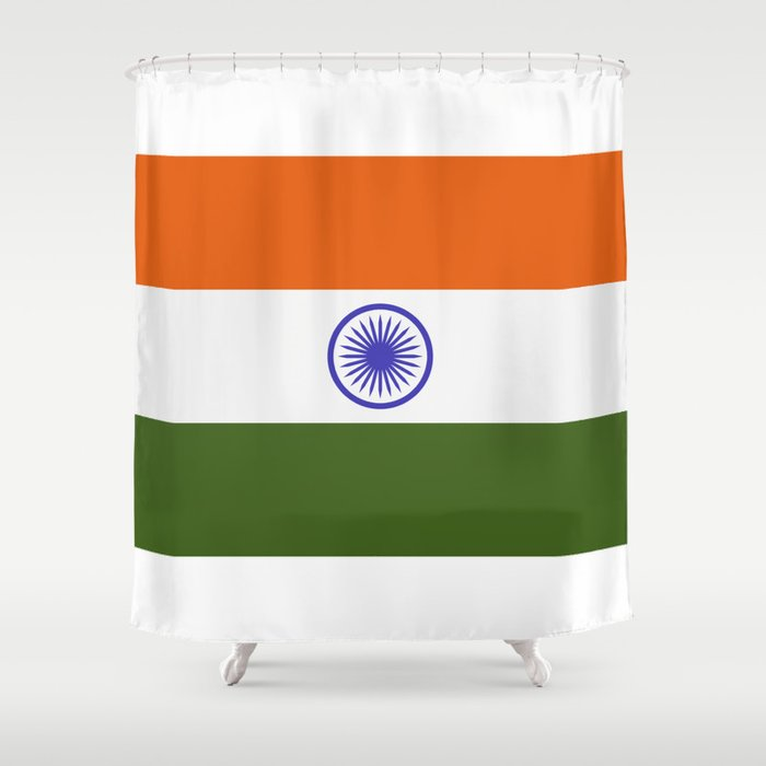 india flag Shower Curtain