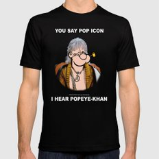 POP ICON / POPEYE-KHAN 025 Black Mens Fitted Tee X-LARGE