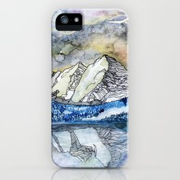 The Maroon Bells Meets  the Sky iPhone Case