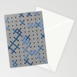 Giant Cross Stitch (Blue) Stationery Cards