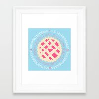 pi Framed Art Prints featuring Pi  by inkextract