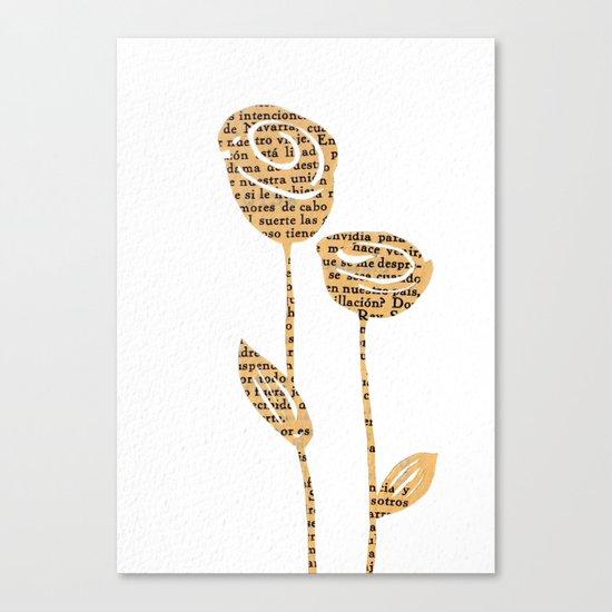 PAPERCUT FLOWER 5 Canvas Print