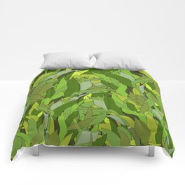 Lucky Bamboo in Porcelain Bowl Comforters