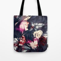 black butler Tote Bags featuring Black Butler by 1MI0