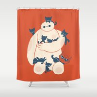 kittens Shower Curtains featuring Kittens! by Jay Fleck