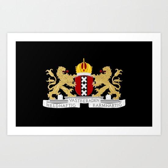 Coat of arms of Amsterdam Art Print