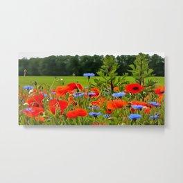 Poppies And Cornflowers Metal Print