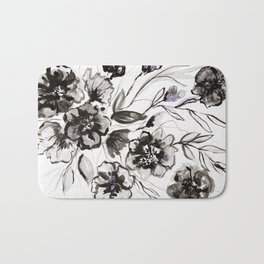 Ink Flowers Bath Mat