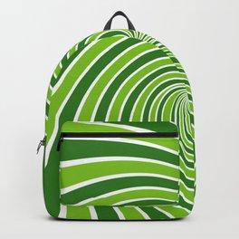 GREEN SWIRL Abstract Art Backpack