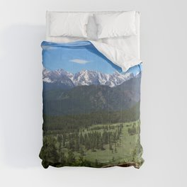 A Glorious Morning In The Rockies Comforters