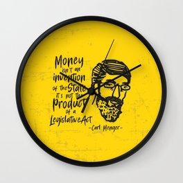 Carl Menger Illustration Wall Clock