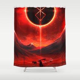 Berserk Demon Mark Moon Shower Curtain