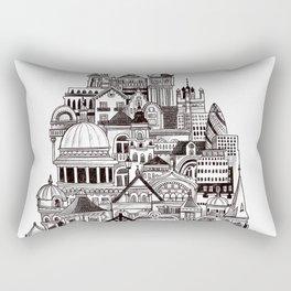 London pencil lines Rectangular Pillow