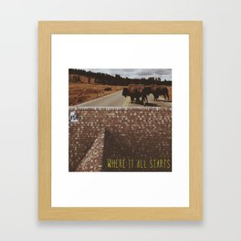 No Need To Go Far (Where It All Starts) Framed Art Print