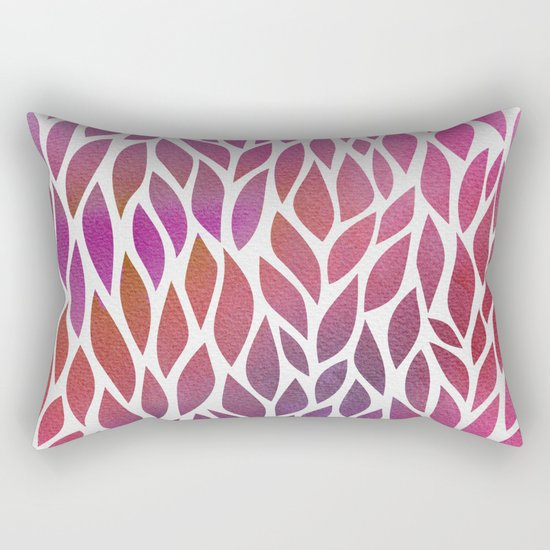 Petals Pattern #3 Rectangular Pillow